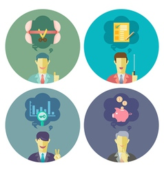 Business and Management set 3 vector