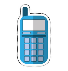 cartoon smartphone telephone technology icon vector image