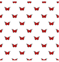 Cethosia biblis butterfly pattern seamless vector
