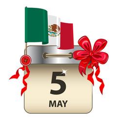 cinco de mayo calendar vector image