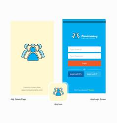 Company police avatar splash screen and login vector