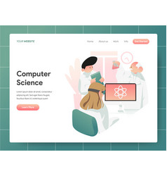 computer science concept modern design concept vector image