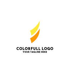 Coorporate logo design modern vector