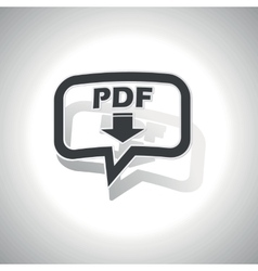 Curved PDF download message icon vector