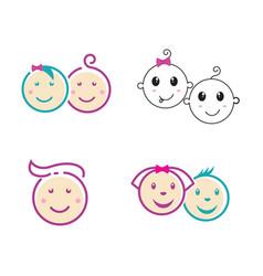 cute balogo icon design vector image