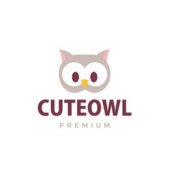 cute owl flat logo icon vector image