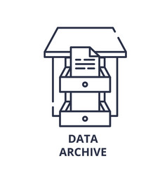 data archive line icon concept data archive vector image