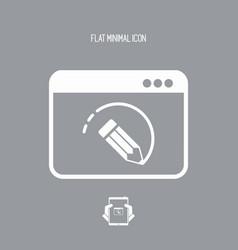 Designer software - flat icon vector
