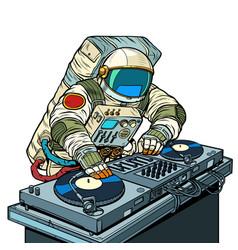 dj on vinyl turntables concert music performance vector image