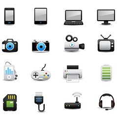 Electronic And Devices Icons vector