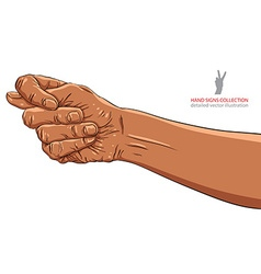 Fig fico hand sign African ethnicity detailed vector image