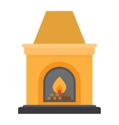 Fireplace flame bright vector image