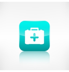 First aid kit icon Application button vector