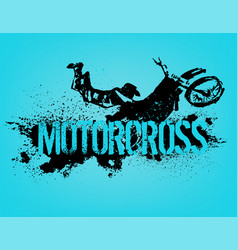 Flying motorcycle image vector