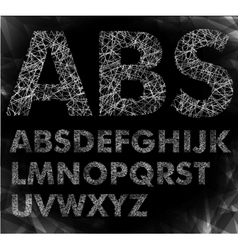 font can be used banners vector image
