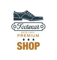 Footwear premium shop logo estd 1963 vintage vector