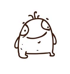 Hand Drawn Cute Monster vector