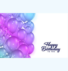 Happy birthday balloons decoration background vector
