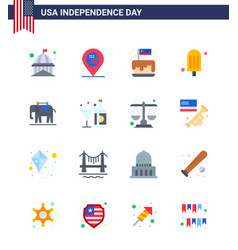 Happy independence day pack 16 flats signs and vector