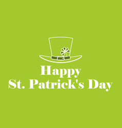 happy st patricks day leprechaun hat with vector image