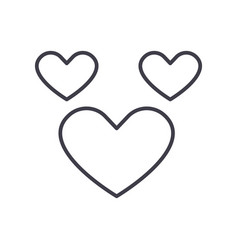 heart line icon sign on vector image
