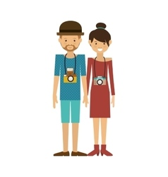 Hipster couple icon vector