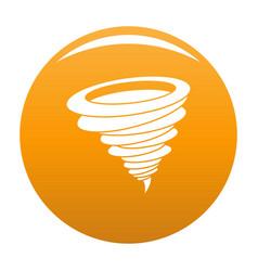 Hurricane icon orange vector