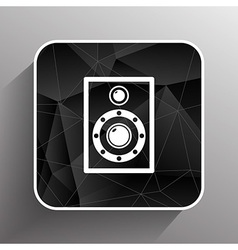 icon audio speaker sound wave symbol vector image