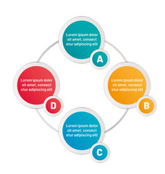 infographic four options circles vector image