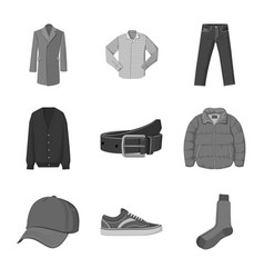 Isolated object of man and clothing sign vector