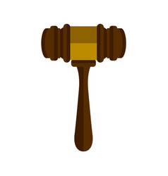 isolated wooden gavel icon vector image