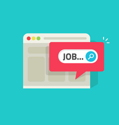 job search online on website vector image