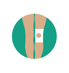 knee joint bandage with an open cup vector image