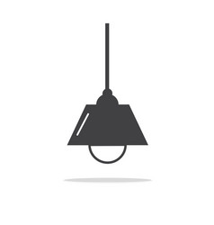 Lamps modern icons vector