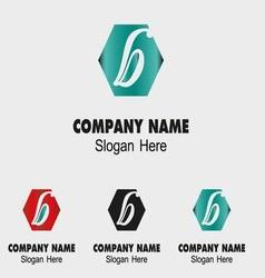 Letter B alphabet logo letter B icon vector