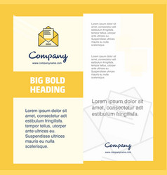 letter company brochure title page design company vector image