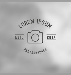 logo for photographer with icon of camera vector image
