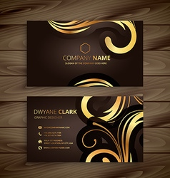 Luxury floral business card vector