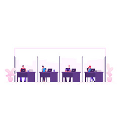 male and female businesspeople characters sit at vector image
