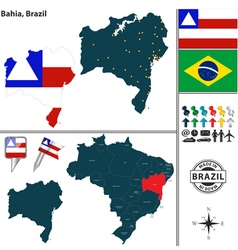 Map of Bahia vector