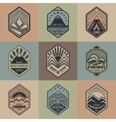 Mount badge set1color1 vector image