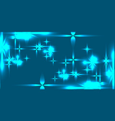 northern shining background with blue stars vector image