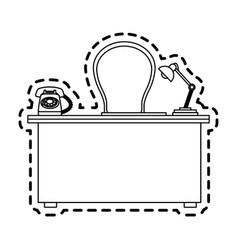 Office desk icon image vector
