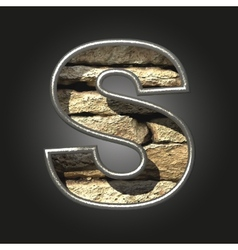 Old stone letter s vector