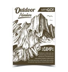 outdoor adventure camp advertising banner vector image