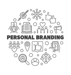 personal branding round outline vector image