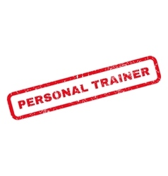 Personal Trainer Rubber Stamp vector