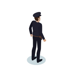 police officer worker icon vector image