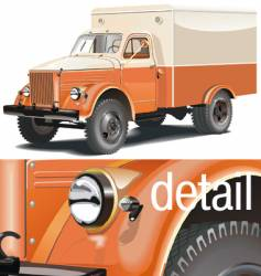 Retro lorry vector