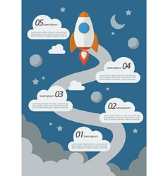 Rocket Launch Infographic vector image